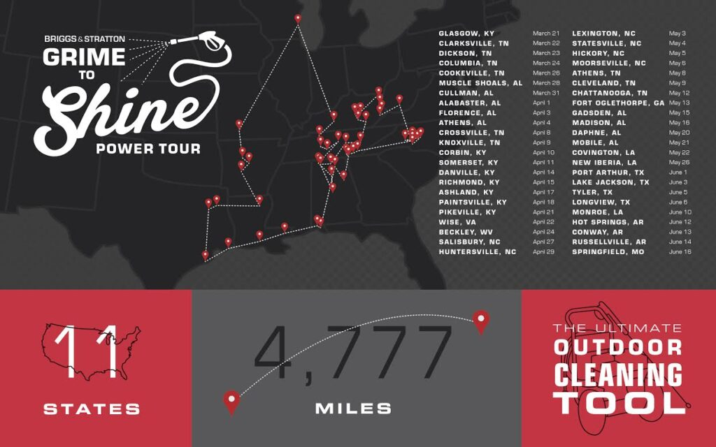 Briggs & Stratton's Grime to Shine Tour
