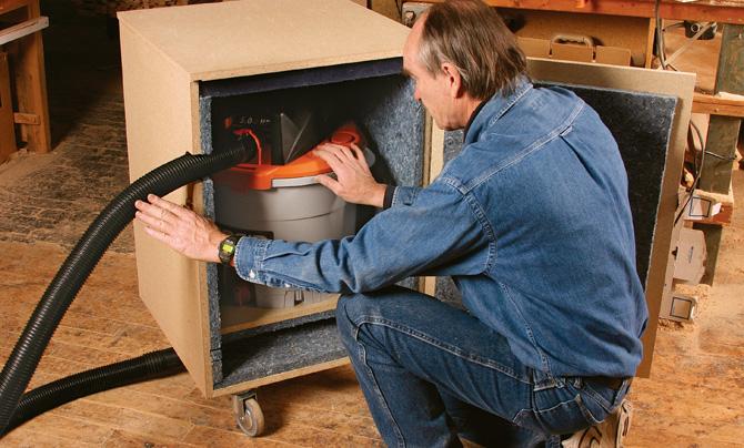 Start Woodworking Shop Vac Silencer Cabinet