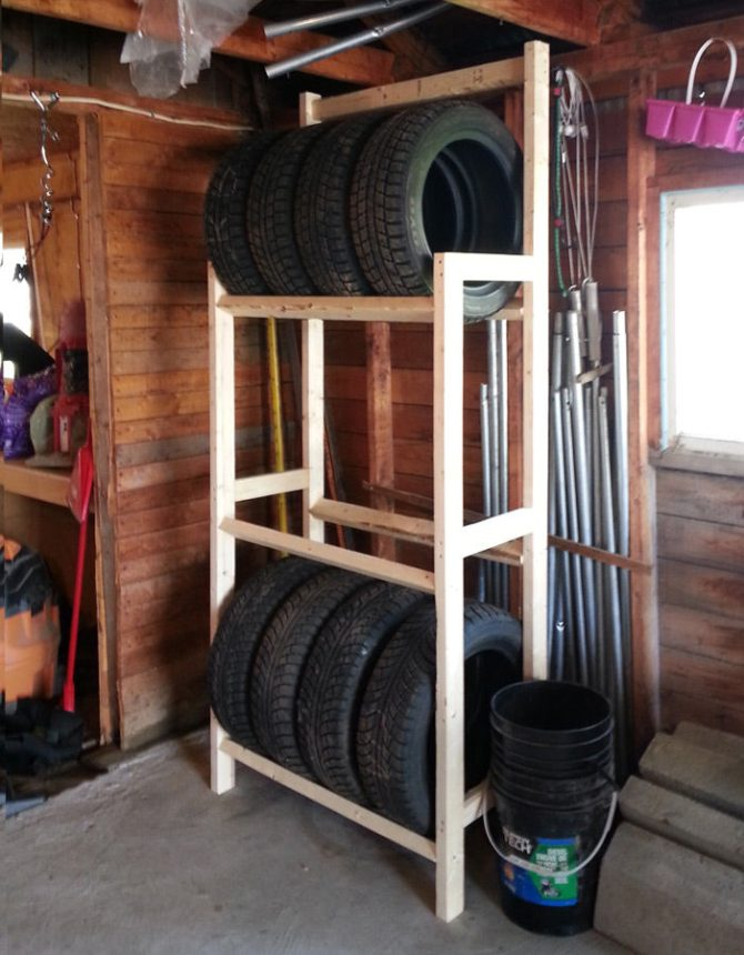 Instructables Tire Rack