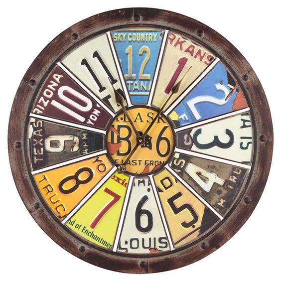 License Plate Clock
