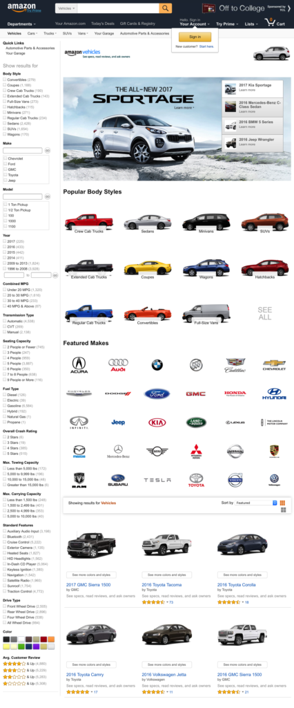 Amazon Vehicles - Homepage (Full)