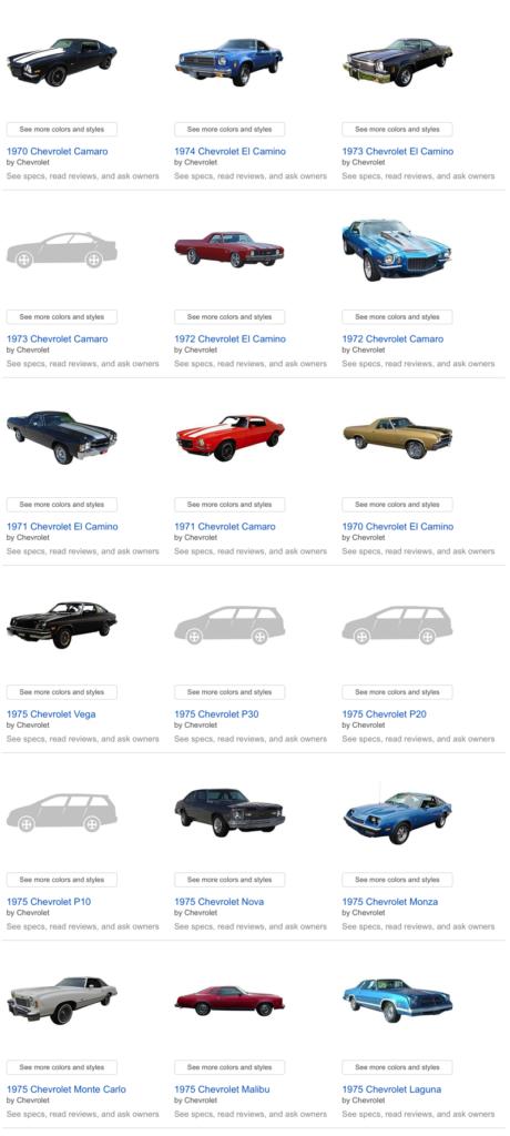 Amazon Vehicles - Old Chevys