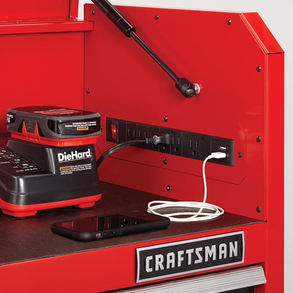 52 inch Heavy Duty Craftsman Tool Storage Set - Charging Station