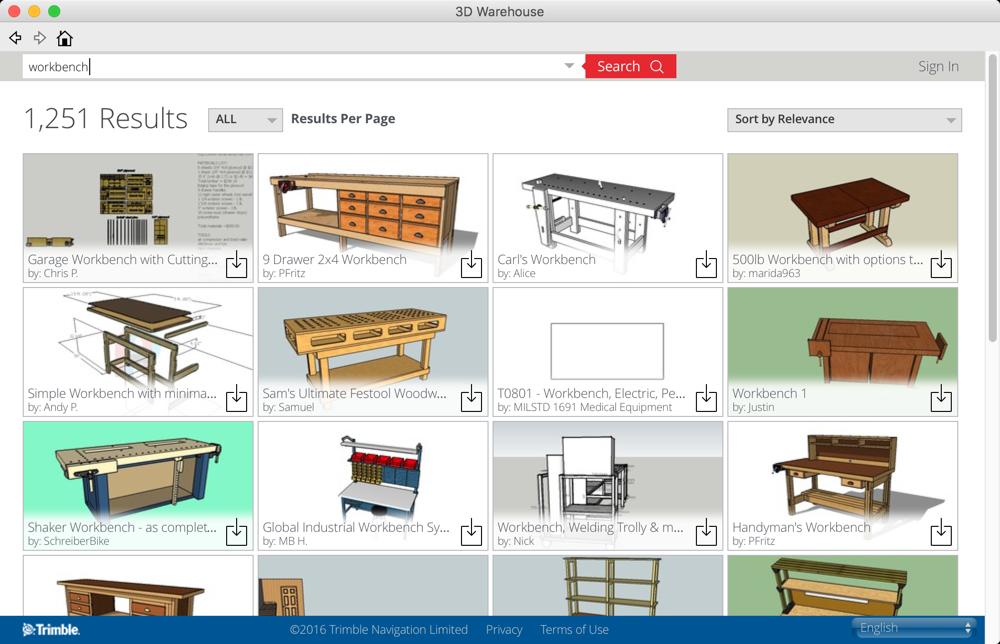SketchUp 3D Warehouse - Workbench