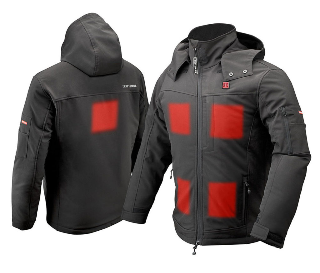 Craftsman Heated Jacket - Heat Zones