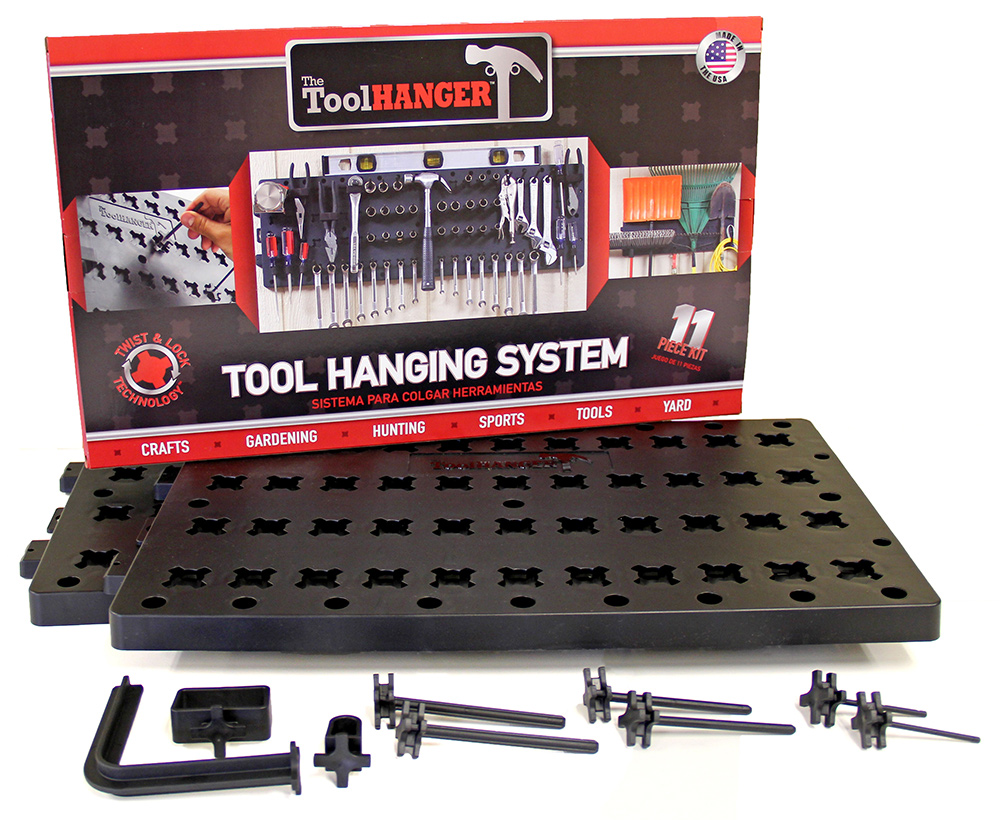 Hansen Global 8209 Twist and Locking Peg Board Toolhanger