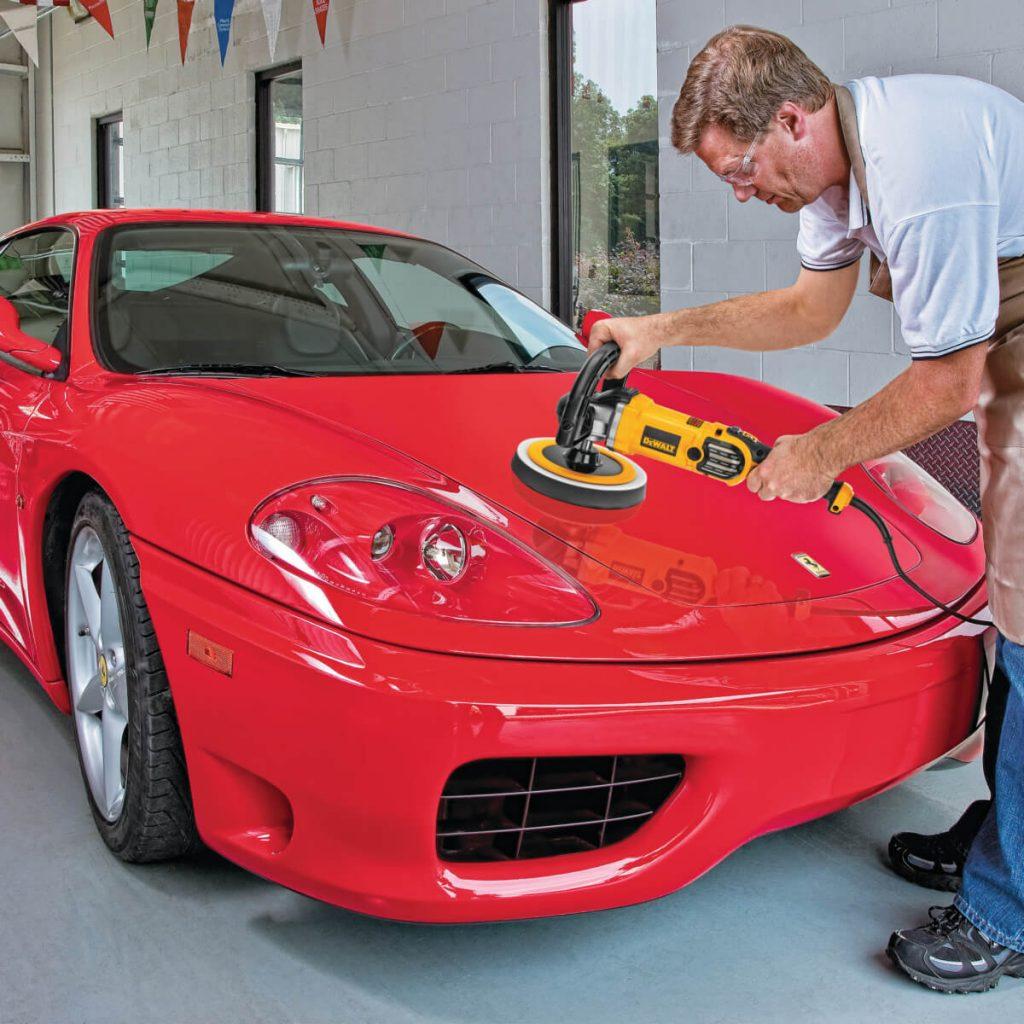 Polishing a Car with Dewalt DWP849X