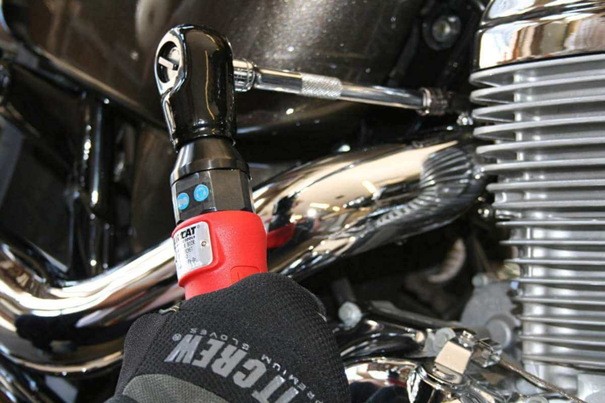Aircat air ratchet used on motorcycle