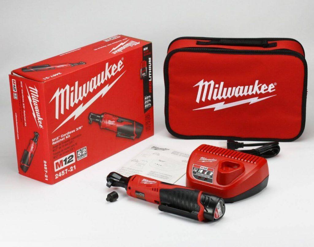 Milwaukee 2457-21 Cordless M12 Ratchet Kit