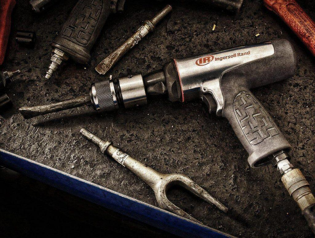 air hammer in tool chest