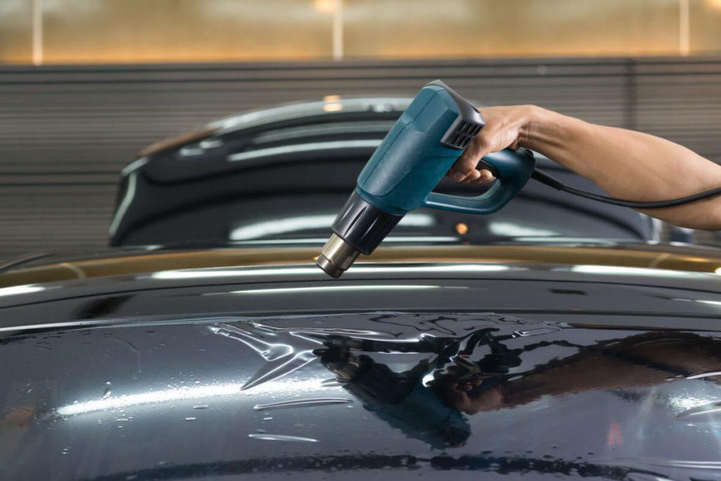 auto mechanics using heat gun