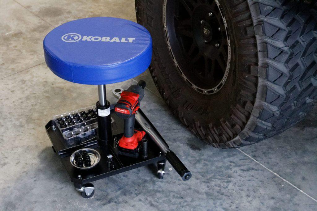 kobalt rolling creeper seat