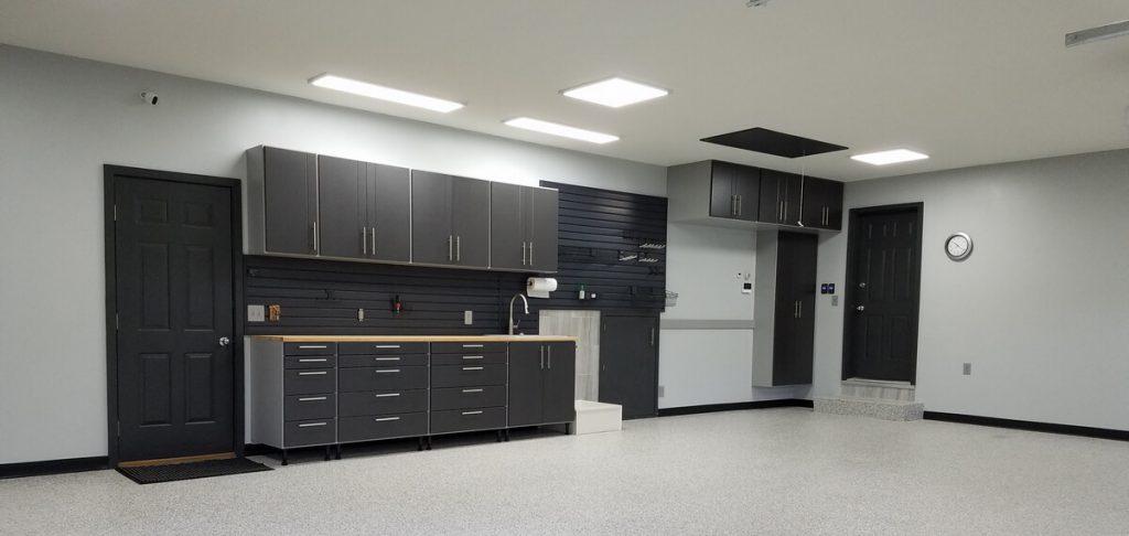 Garage workbench and cabinet