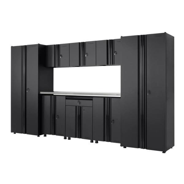Husky GS13209-SS Steel Garage Cabinet