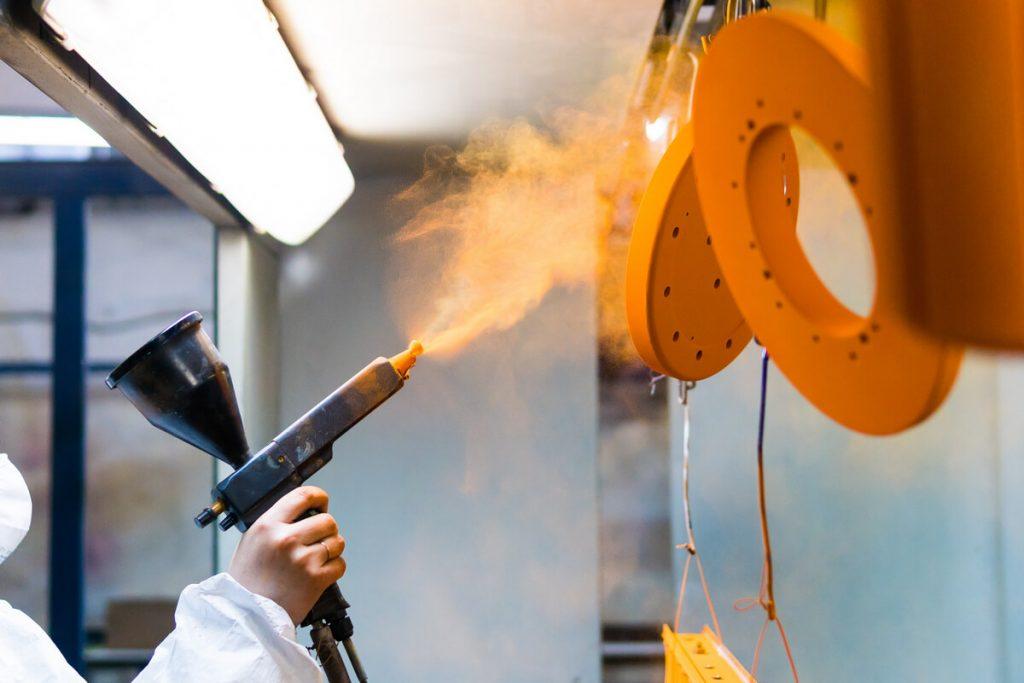 powder coating automotive parts