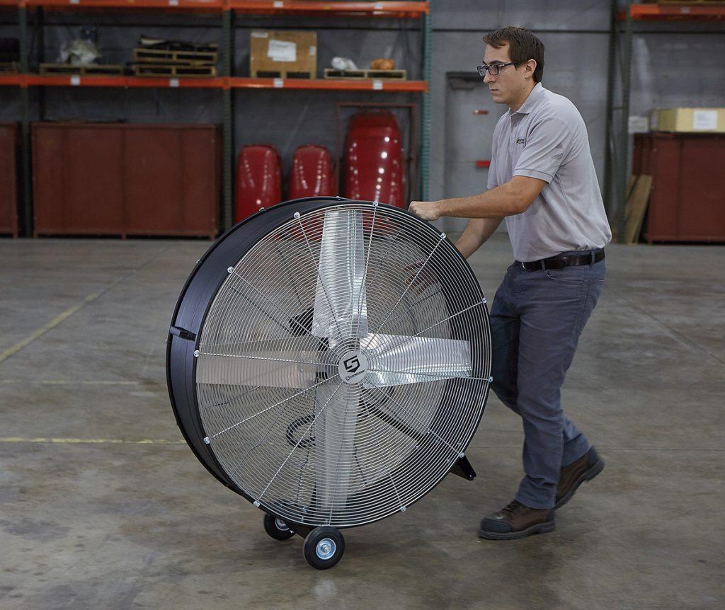 Industrial drum fan
