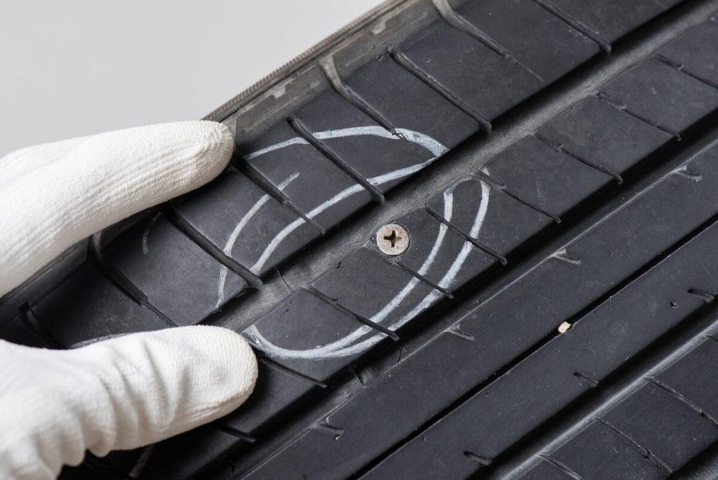 Screw in tire